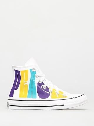 Converse Chuck Taylor All Star Hi Chucks (white/court purple/amarillo)
