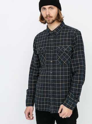 Brixton Bowery Flannel Ls Shirt (washed black/blue)