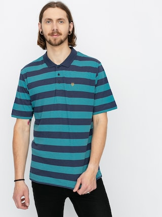 Brixton Hilt II Knit Polo t-shirt (aqua/washed navy)