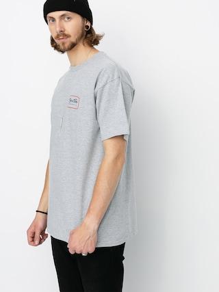Brixton Grade Stnd T-shirt (heather grey/orange)