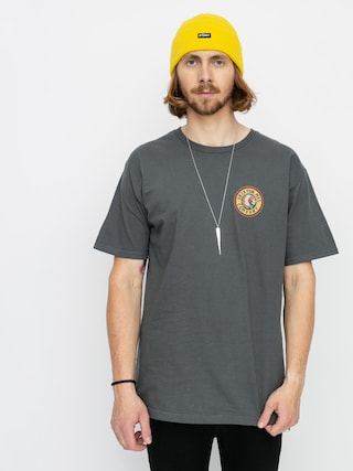 Brixton Rival II Stnd T-shirt (washed black/orange)