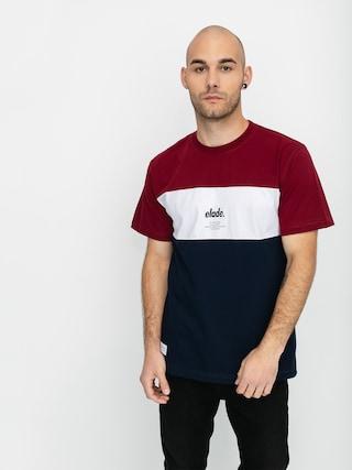 Elade Colour Block T-shirt (maroon/white/navy)