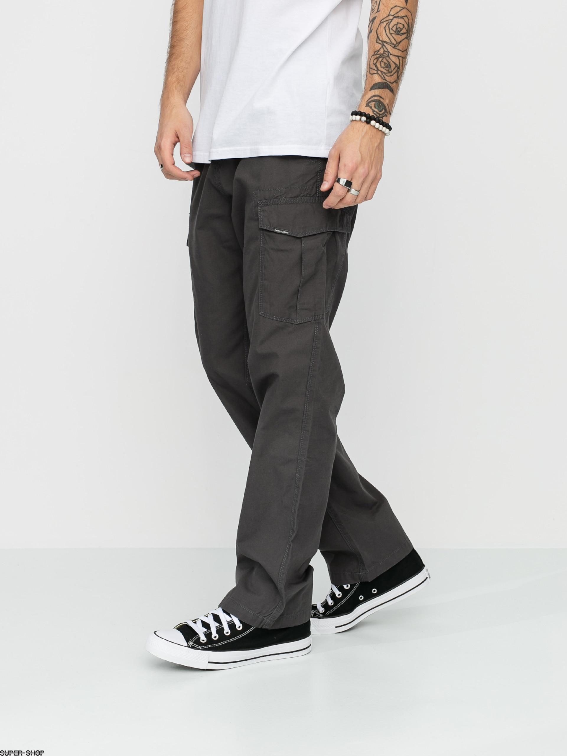 Volcom Miter II Cargo Trousers in Dark Grey
