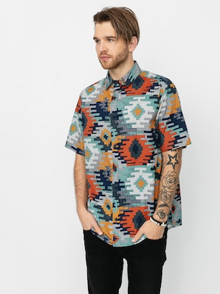 Burton Shabooya Camp Shirt (dress blue crooked kilim)
