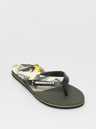 Quiksilver Molokai Jungle Swell Flip-flops (black/white/black)