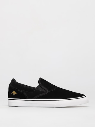 Emerica Wino G6 Slip On Youth Shoes (black/white/gold)