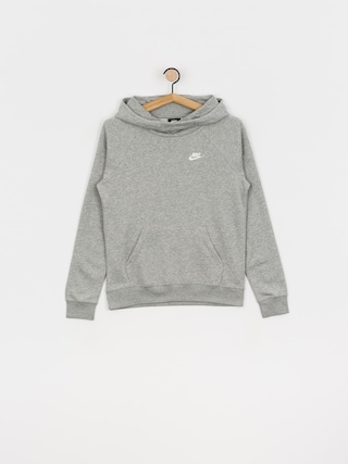 Nike Sportswear Essential HD Hoodie Wmn (grey heather/white)