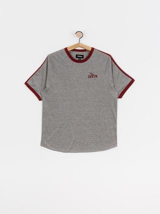 Brixton Rogers T-shirt (heather grey/burgundy)