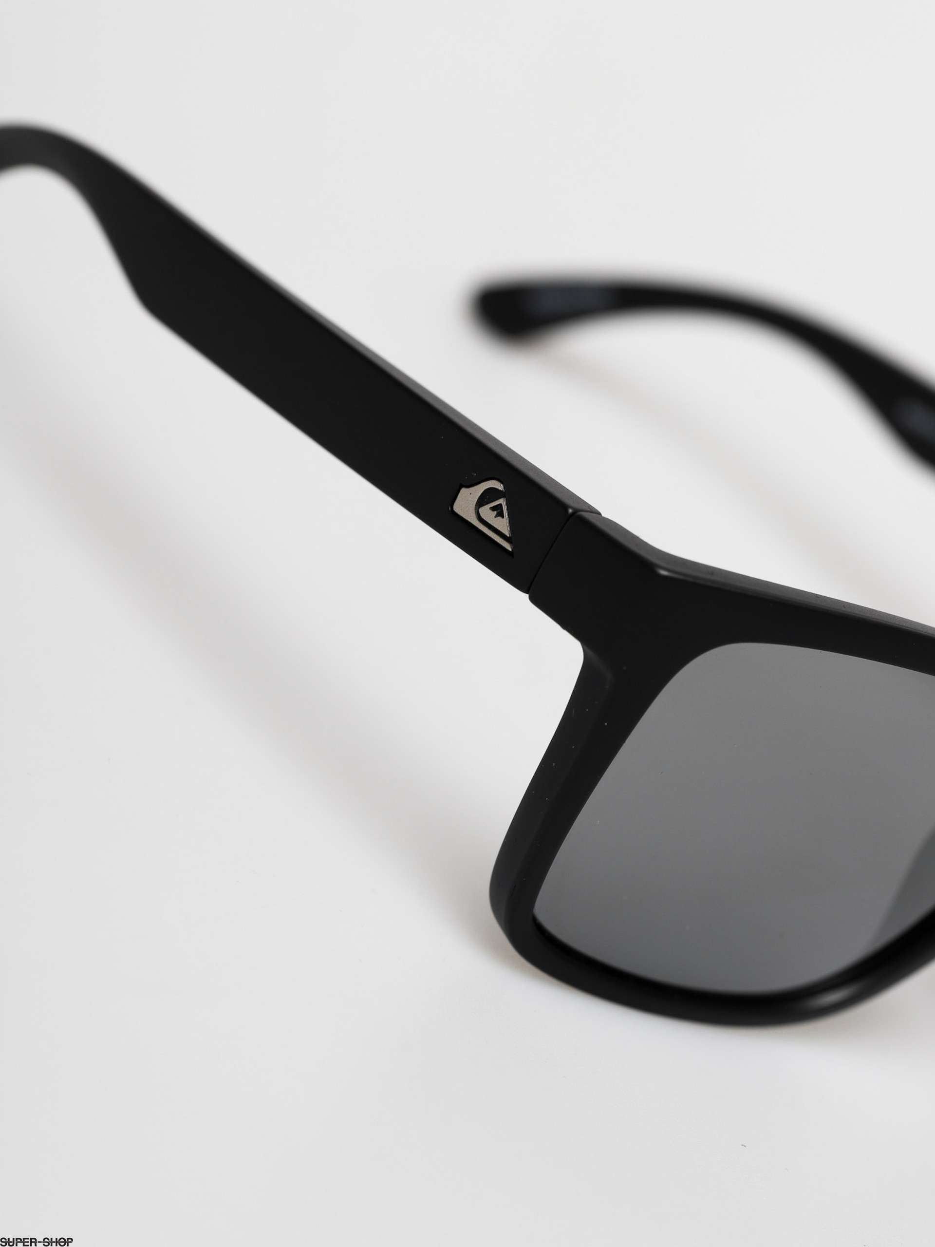 Quiksilver Charger Sunglasses Matte Black Flash Si