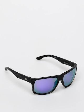 Quiksilver Transmission Sunglasses (matte tor blk/ml p)