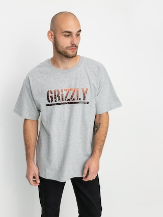 Grizzly Griptape X Champion Stamp Fadeaway T-shirt (grey heather)