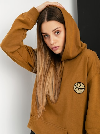 RVCA Patch Seal HD Hoodie Wmn (antique bronze)