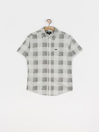 Brixton Charter Plaid Wvn Shirt (whblk)