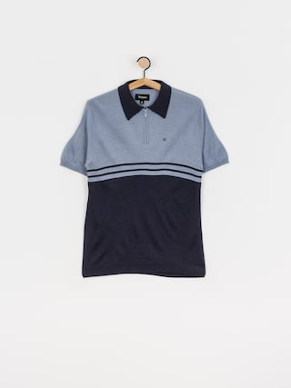 Brixton Allen 1/4 Zip Polo t-shirt (twilight blue/washed navy)