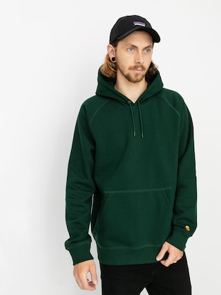 Carhartt WIP Chase HD Hoodie (bottle green/gold)
