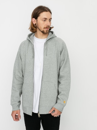 Carhartt WIP Chase ZHD Hoodie (grey heather/gold)