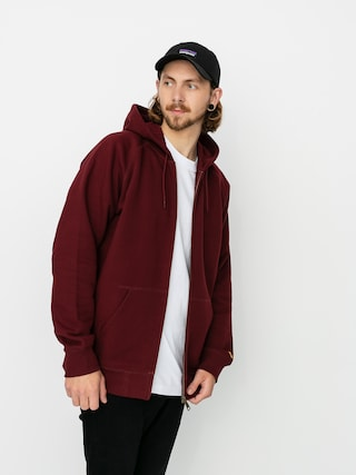 Carhartt WIP Chase ZHD Hoodie (bordeaux/gold)