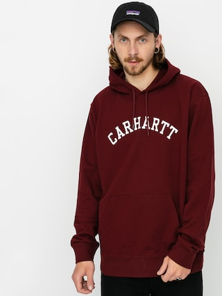 Carhartt WIP University HD Hoodie (bordeaux/white)