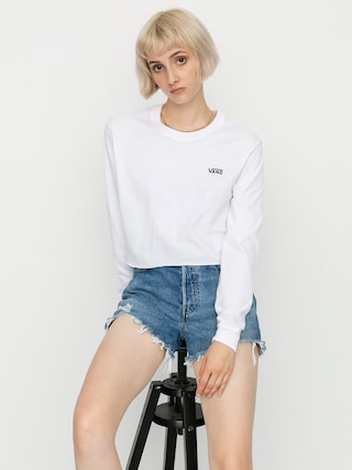 Vans Junior V Crop Longsleeve Wmn (white/black)