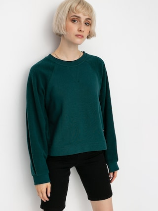 Volcom Brushism Fleece Sweatshirt Wmn (emerald green)