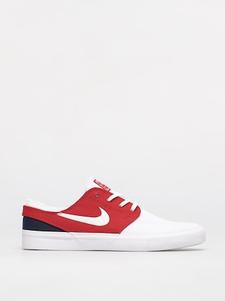Nike SB Zoom Janoski Canvas Rm Shoes (white/white university red midnight navy)