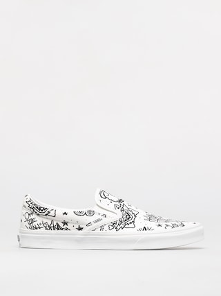 Vans Classic Slip On Shoes (u color tattoo/true white)