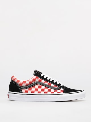 Vans Old Skool Shoes (blur check/true wht/red)