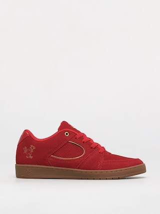 eS Accel Slim Shoes (red/gold)