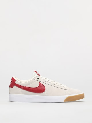 Nike SB Blazer Low Gt Shoes (sail/cardinal red white gum light brown)