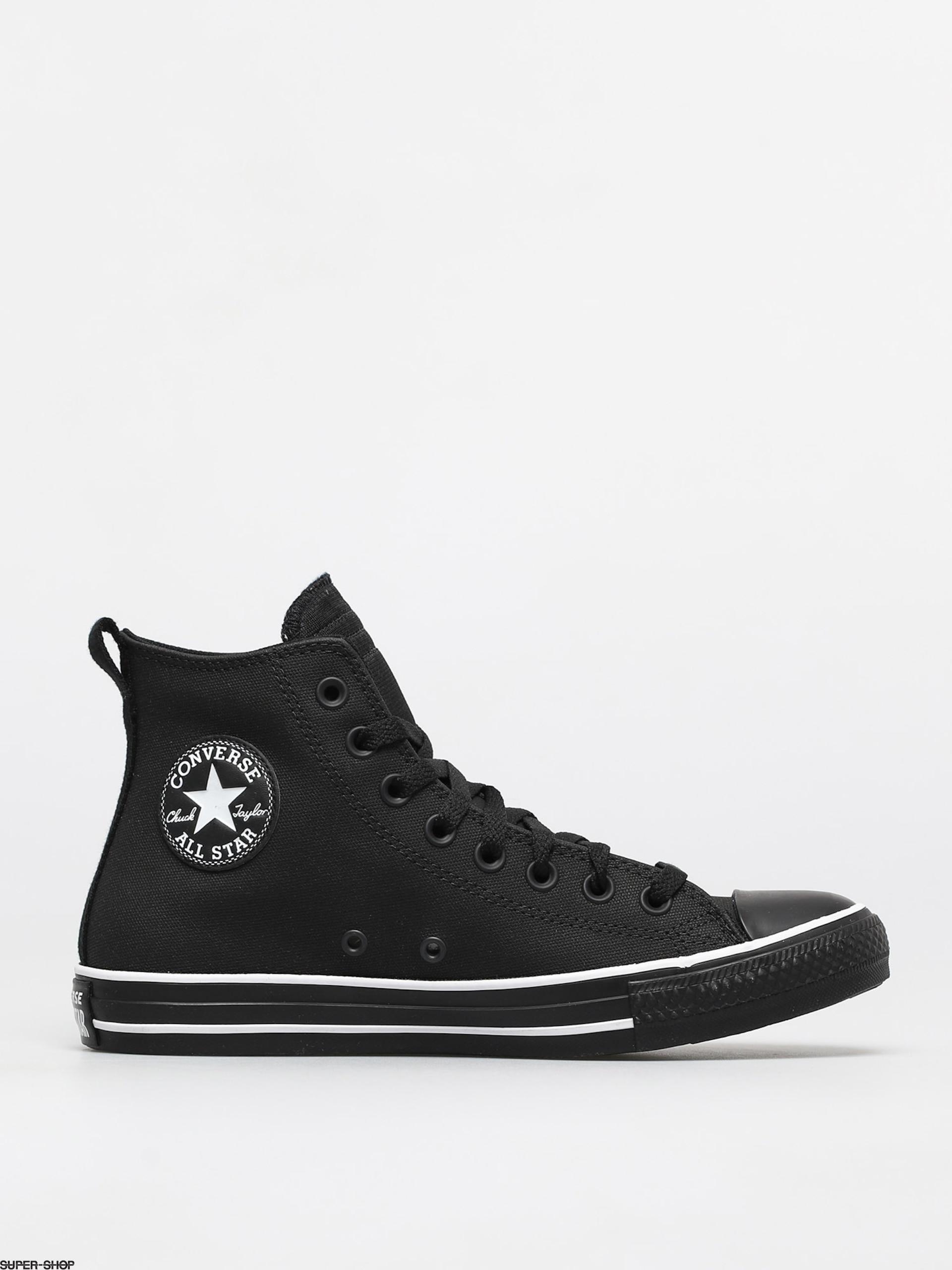 Converse Chuck Taylor All Star Padded Tongue Leather Chucks (black/black/white)