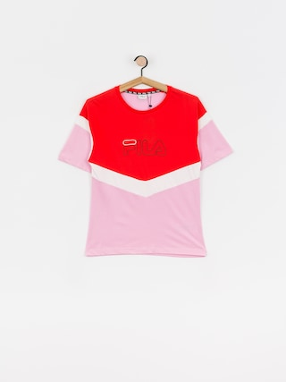 Fila Laeta T-shirt Wmn (lilac sachet/poppy red/bright white)