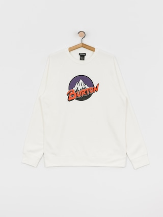 Burton Retro Mountain Sweatshirt (stout white)