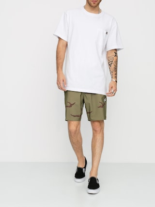 Volcom Lido Solid Mod Boardshorts (light army)