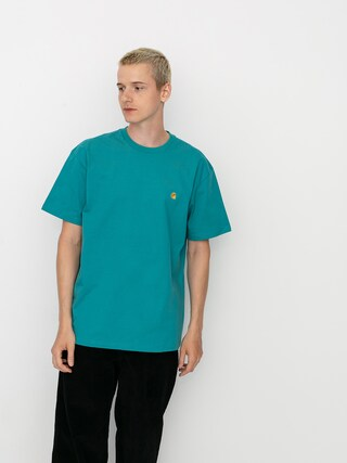 Carhartt WIP Chase T-shirt (frosted turquoise/gold)