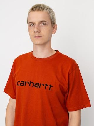 Carhartt WIP Script T-shirt (cinnamon/black)