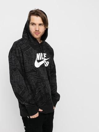 Nike SB Aop HD Hoodie (black/black/white)