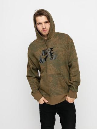 Nike SB Aop HD Hoodie (cargo khaki/cargo khaki/black)