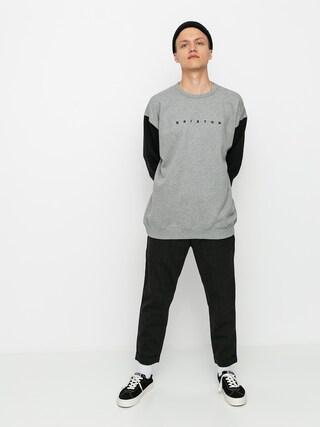 Brixton Cantor Crew Sweatshirt (heather grey/black)