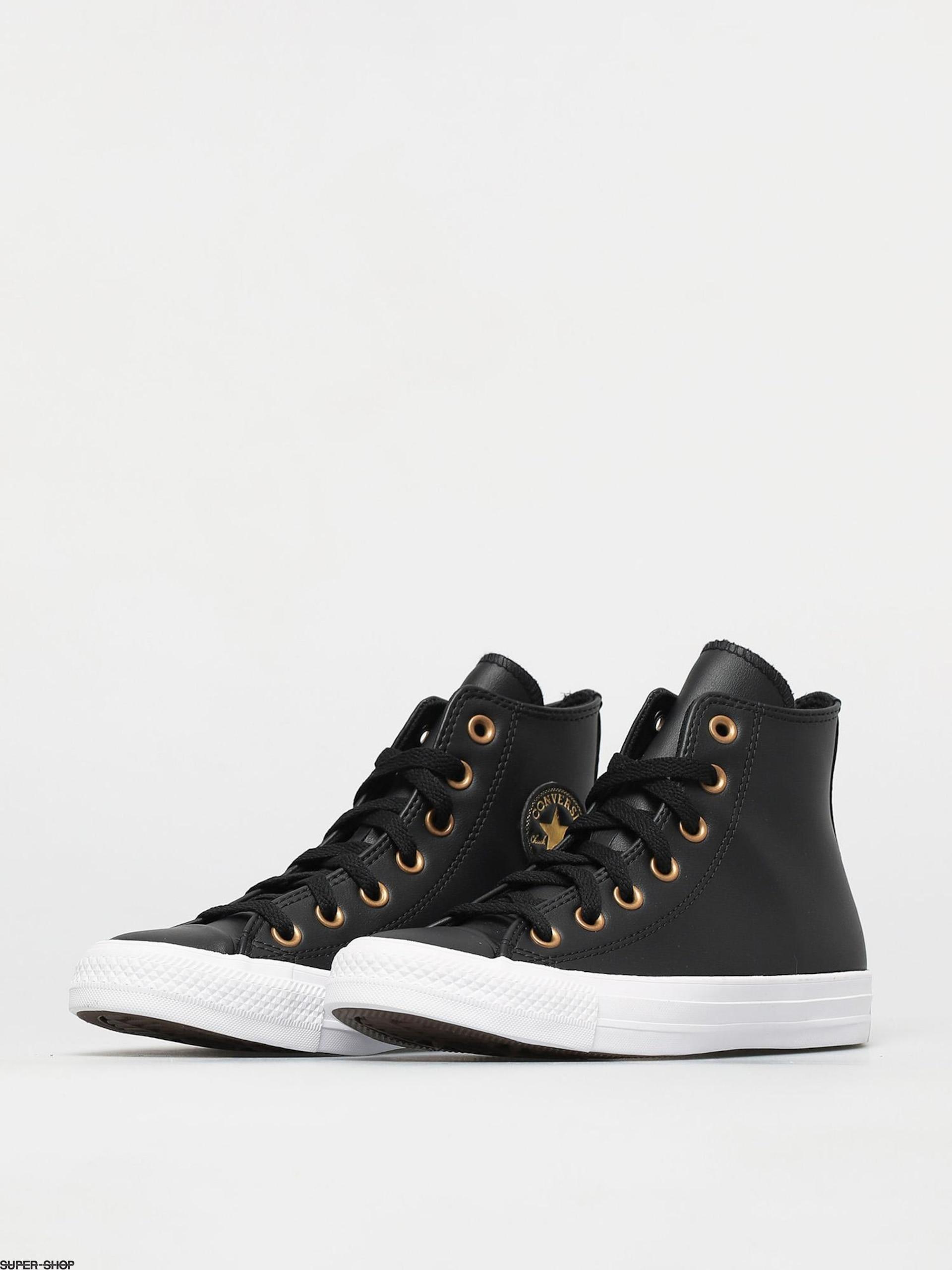 Star Leather Hi Chucks Wmn (black
