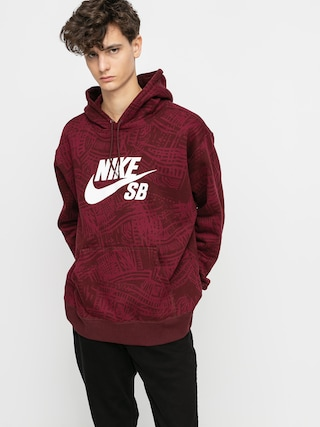Nike SB Aop HD Hoodie (dark beetroot/mystic dates/white)