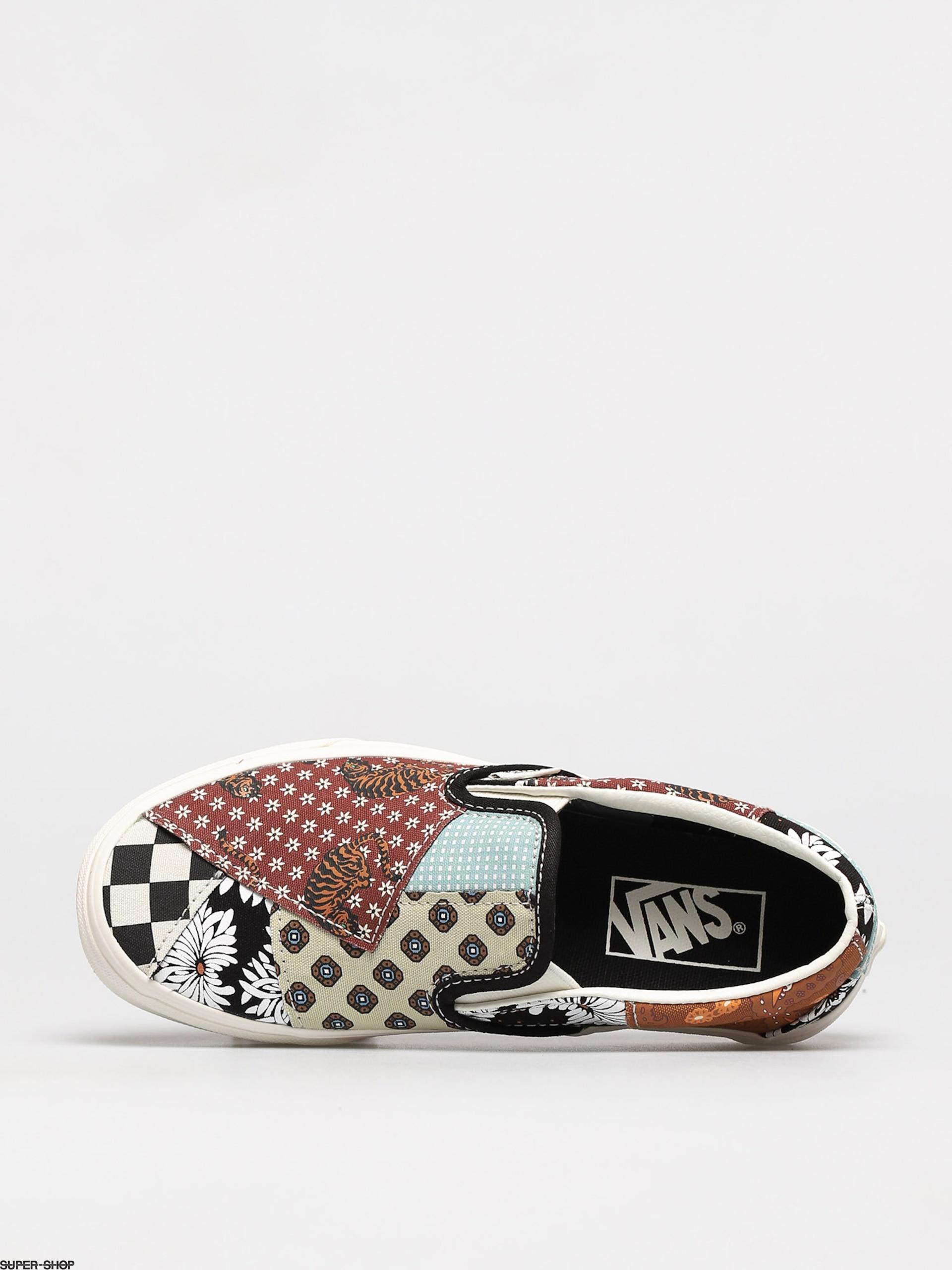Vans Classic Slip On Shoes Tiger Patchwork Blktrwht