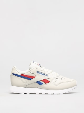 Reebok Classic Leather Shoes Wmn (chalk/vecred/vecblu)