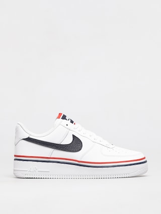 Nike Air Force 1 07 Lv8 Shoes (white/obsidian habanero red)