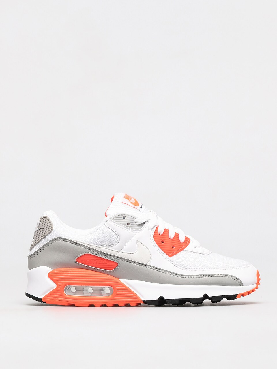 Nike Air Max 90 Shoes (white/white hyper orange lt smoke grey)