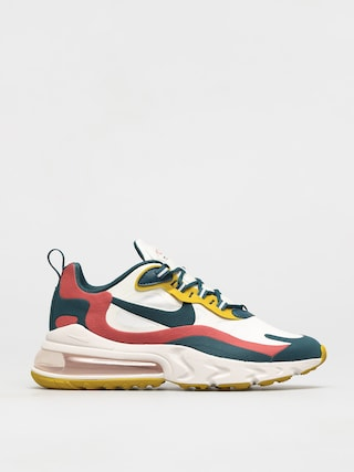 Nike Air Max 270 React Shoes (summit white/midnight turq pueblo red)