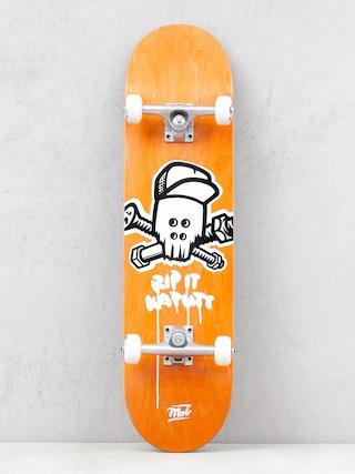 Mob Skateboards Skull Skateboard (yellow)