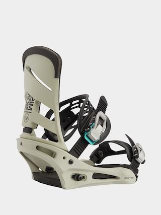 Burton Mission Snowboard bindings (gray/green)