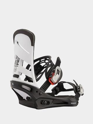 Burton Mission Snowboard bindings (white/black)