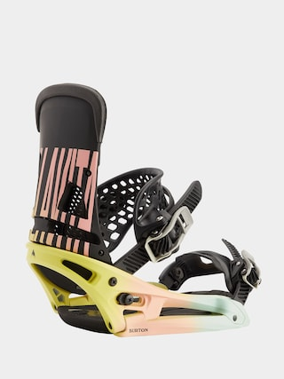 Burton Malavita Est Snowboard bindings (pink/yellow/blue)