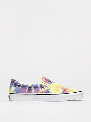 Vans Classic Slip On Shoes (washed/tie dye/true wht)